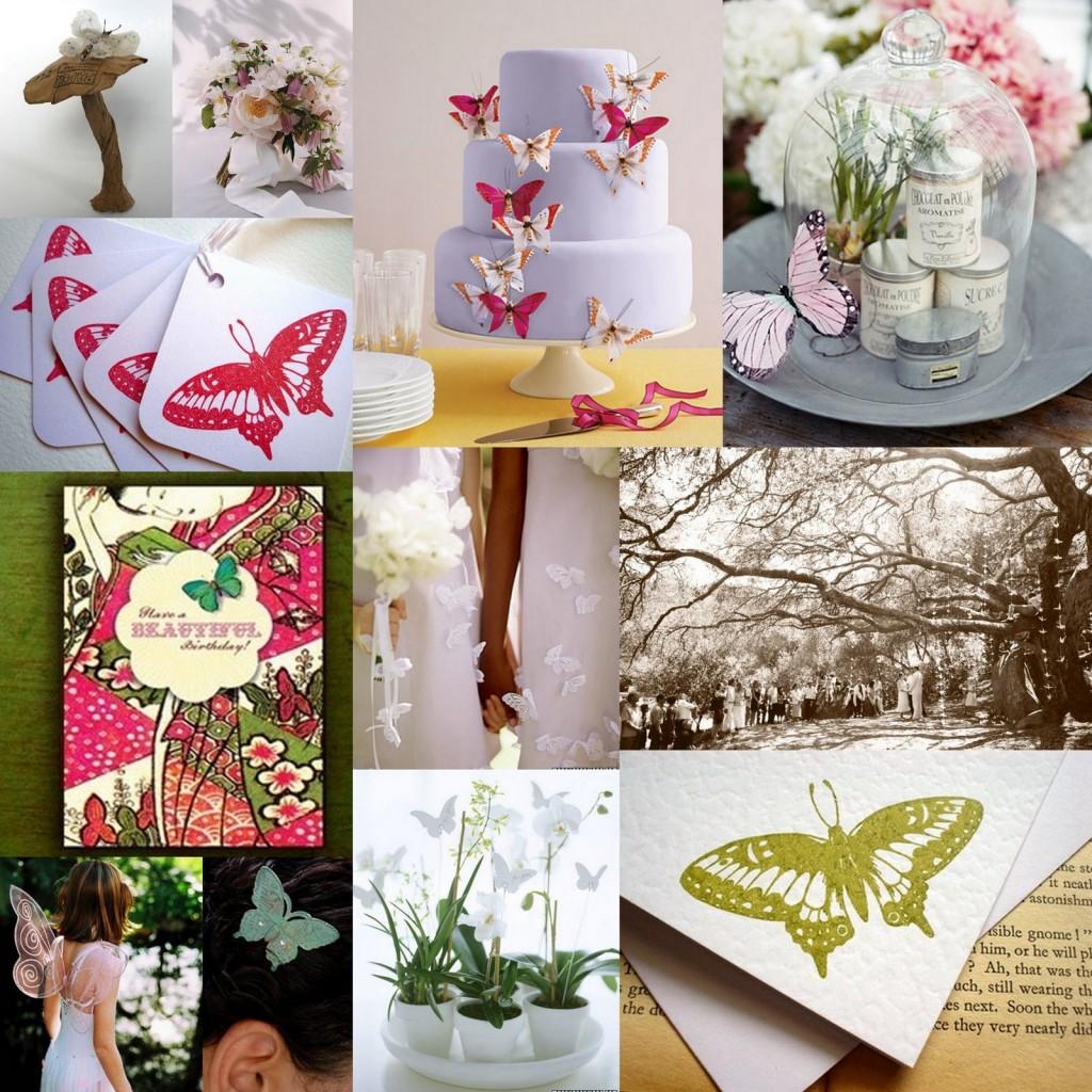 bruiloft met als thema vlinders