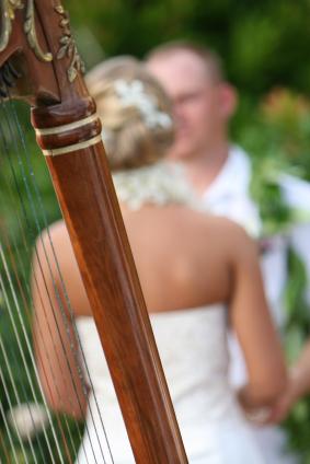 harpspel tijdens trouwceremonie