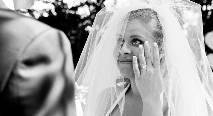 bruid met traan
