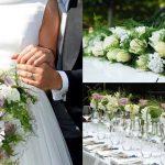 Bloemen zijn nodig bij het trouwen