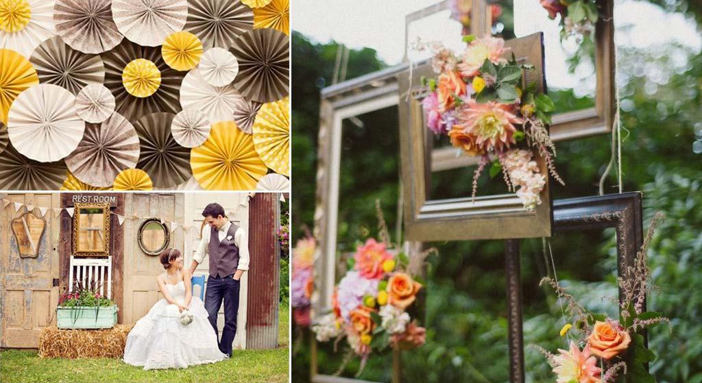 achtergrond trouwfoto