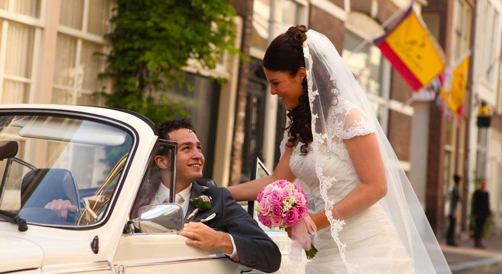 Bruidspaar VW Kever