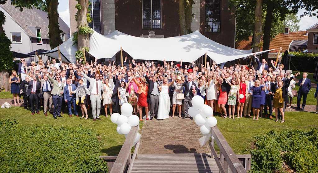 bruiloft trouwen in een tent