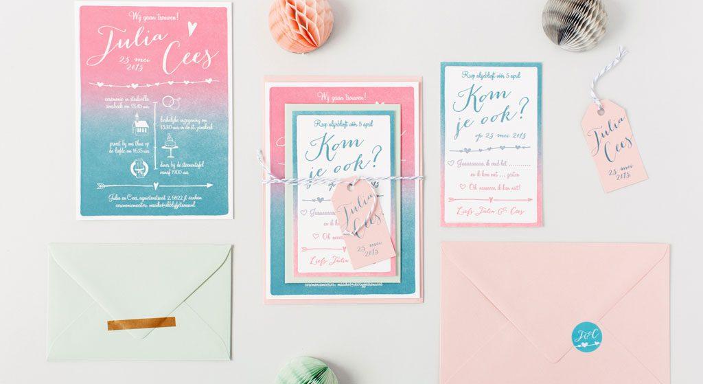 letterpress trouwkaarten