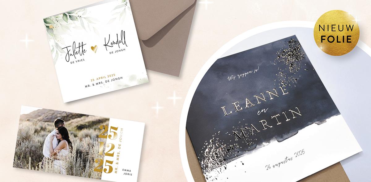 trouwkaarten-goudfolie