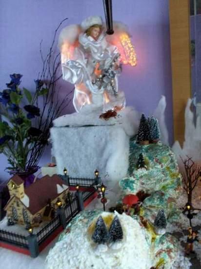 Kerstengel Met Verlichting - ARCHIDEV