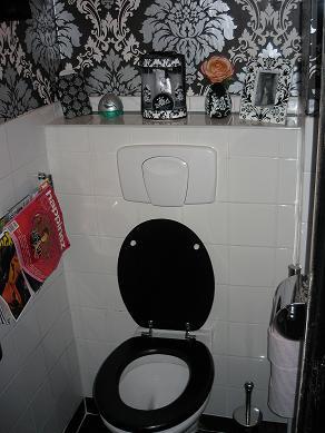 Creatief toilet - Wc zwart wit ...