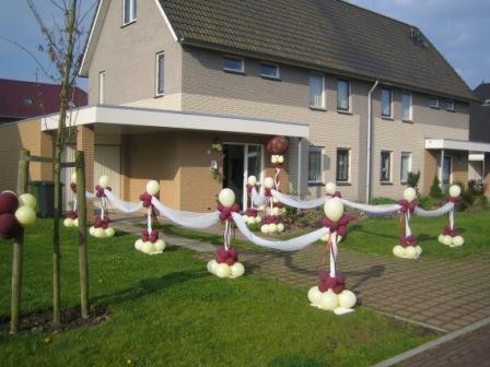 bruiloft versiering huis
